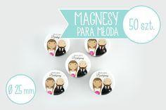 Oryginalny pomysł na podziękowania dla gości weselnych - magnesy z Waszymi podobiznami! :D Prezent nie do podrobienia :)  Magnesy dostępne w sklepie internetowym Madame Allure.