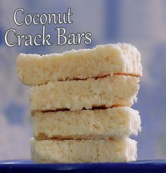 10 min Coconut Crack Bar - I want to make this now! Yumm