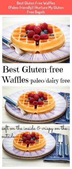 Best Gluten Free Waffles (Paleo-friendly) | Nurture My Gluten Free Bagels #Best #Gluten #Free #Waffles #(Paleo-friendly) #Nurture #Gluten #Free #Bagels Waffle Recipes, Brunch Recipes, Gluten Free Recipes, Gourmet Recipes, Brunch Ideas, Diet Recipes, Waffles Sin Gluten, Dairy Free Waffles, Healthy Sweet Snacks