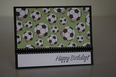 Birthday Card-  Soccer Balls