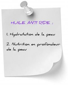 huile anti ride hydratation nutrition Huile Anti Ride, Diy Beauty, Place Cards, Place Card Holders, Health, Nutrition, Fitness, Natural Cosmetics, Natural Remedies