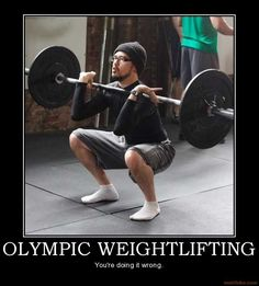 Olympic Weightlifting Logo Olympic Lifting Under Crossfit Humor, Workout Humor, Youre Doing It Wrong, Olympic Weightlifting, Powerlifting, Strength Training, Weight Lifting, Barefoot