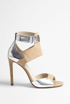 Nude Atherton Leather Ankle Strap Sandal by Michael Kors
