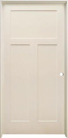 Mastercraft Primed Stile and Rail 3-Panel Prehung Interior Door at Menards
