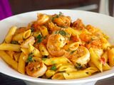 Penne with Shrimp and Herbed Cream Sauce Recipe : Giada De Laurentiis : Recipes : Food Network