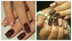 Эффект вуали на ногтях Manicure And Pedicure, Nail Designs, Polish, Nail Art, Glitter, Nails, Direction, Beauty, Pictures
