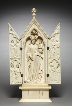 Triptych: The Life of the Virgin, c. 1325-1350 France, Lorraine?, or Austria?, Gothic period, 14th century