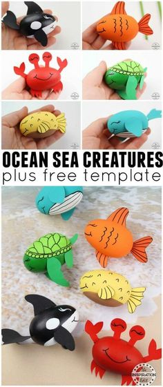 Why not try this DIY Ocean Craft For Kids. A fun painting activity for toddlers,… Why not try this DIY Ocean Craft For Kids. A fun painting activity for toddlers,… – Calculating Infinity – - Disney Crafts Ideas Sea Animal Crafts, Whale Crafts, Crab Crafts, Animal Crafts For Kids, Dinosaur Crafts, Older Kids Crafts, Craft Projects For Kids, Easy Crafts For Kids, Toddler Crafts