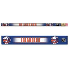 "NEW YORK ISLANDERS Team Logo (6 pack) of 7"" Long WOODEN PENCILS  http://allstarsportsfan.com/product/new-york-islanders-team-logo-6-pack-of-7-long-wooden-pencils/  Officially licensed team Logo pack of Pencils. Measuring approximately 7 inches long and 1/4 inch in diameter. Each pencil features wrap-around team artwork in brilliant colors !"