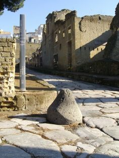 the ancient streets of Herculaneum - Italy