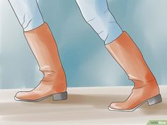 5 Ways to Stretch Boots - wikiHow How To Stretch Boots, 5 Ways, Stretches, Calves, Platform, Heels, Fashion, Heel, Moda