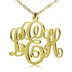 Vine Monogram Name Necklace Gold by TheMonogramNecklace on Etsy, $21.00 I want one!
