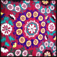 """""""Red and Yellow Frangipani"""" - Honorooroo Lifestyle Wool Thread, A Hook, Chain Stitch, Beautiful Hands, Folk Art, Embroidery, Boho, Lifestyle, Yellow"""