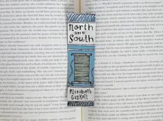 Hand Painted Bookmark // North and South Classic by PeelsandPosies