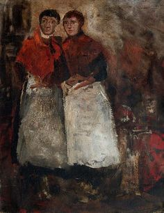 Twee waspitten George Hendrik Breitner (1857-1923) - Kunsthandel Studio 2000 - https://studio2000.nl//george-hendrik-breitner/twee-waspitten/
