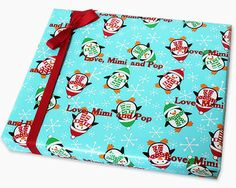 Penguin Party Personalized Gift Wrap