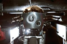 "Christian Schwarzenlander's Yamaha SR500-based ""ExesoR Machine"" custom motorcycle."