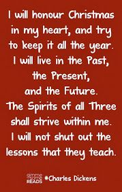 More Than Sayings: I will honour Christmas in my heart