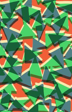 Mixed triangles all-over pattern - Sarah Bagshaw