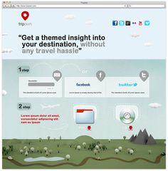 TripOwn Landing Page by KEJJO , via Behance