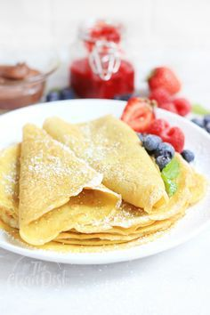 Hands Down The Best Grain Free and Gluten Free Crêpes {paleo, dairy free, sugar free, nut free}
