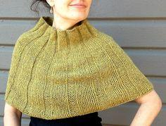 Modern Mini Poncho by Edna Hart, knit in Berroco Flicker