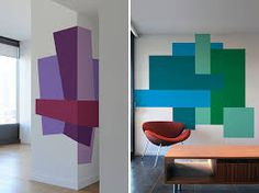 I'm doing a playroom for a customer, I think colour blocking like this would be fun!