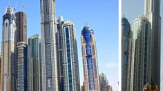 Princess Tower entre prédios e em destaque, em Dubai