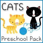 C for Cat Cats Preschool Pack ~ Free Printables - 1+1+1=1
