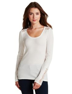 Lucky Brand Women s Inset Neckline Shirt « Clothing Impulse Shirt Outfit 2a73cacec76