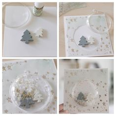 Create a effect while making Christmas cards - Hair Beauty - Food and Drink - Christmas - DIY and Crafts - Home Decor Christmas Card Crafts, Christmas Cards To Make, Christmas Decorations, Diy Crafts To Sell, Crafts For Kids, Christmas Balls, Xmas, Homemade Birthday Cards, Up Book