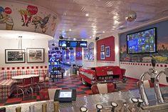 Modern Media Room 1950 Diner Design Ideas, Pictures, Remodel, and Decor