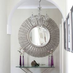 bamboo sun mirror by decorative mirrors online | notonthehighstreet.com