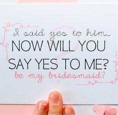 maid-of-honor and bridesmaid invites