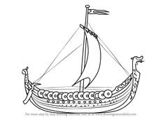 Learn How to Draw a Viking Ship (Boats and Ships) Step by Step : Drawing Tutorials