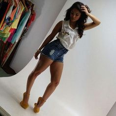 Her legs look really nice with the shoes.