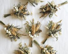 A sweet boutonniere of wheat, lavender, oregano, and assorted dried blooms. This listing is for ONE boutonniere. Two bout pins included. We recommend placing orders in advance by including your event date in the notes at checkout. Floral Wedding, Wedding Colors, Fall Wedding, Wedding Bouquets, Rustic Wedding, Our Wedding, Wedding Flowers, French Wedding, Elegant Wedding