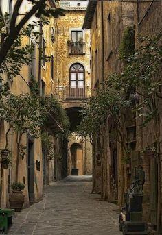 Ancient Street, Tuscany, Italy, want to go to Tuscany so bad!!