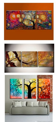 Extra large hand painted art paintings for home decoration. Large wall art, canvas painting for bedroom, dining room and living room, buy art online. 3 Piece Canvas Art, 3 Piece Painting, Hand Painting Art, Canvas Paintings For Sale, Modern Art Paintings, Abstract Paintings, Abstract Art For Sale, Abstract Wall Art, Online Painting