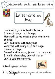 LA SEMAINE DU LOUP - CP - La classe de Corinne