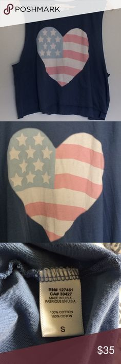 Wildfox sun bleached heart tank🇺🇸 NWT no issue •super soft *price firm Wildfox Tops Tank Tops