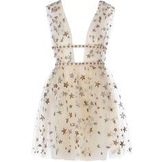Valentino x goop Sleeveless tulle mini dress Goop ❤ liked on Polyvore featuring dresses, vestidos, short dresses, valentino, sleeveless cocktail dress, ballet dress, short pink dress and layered dress