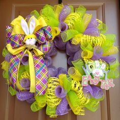 Hey, I found this really awesome Etsy listing at https://www.etsy.com/listing/180212919/happy-easter-wreath