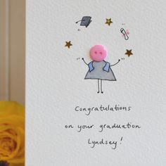 Personalised 'Button Graduation' Hand Illustrated Card - shop by category