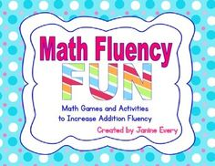 Lots of activities, games, and print-and-go pages for addition fluency. Addresses common core goals in a fun way!