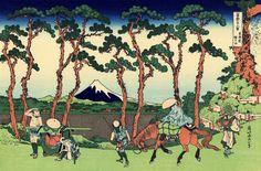 """""""Hodogaya on the Tōkaidō"""", - Thirty-six Views of Mount Fuji - No.26, by Hokusai (1760–1849)"""