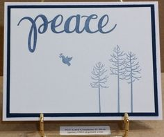 Handcrafted Christmas Card, Clean & Simple, Images by Stampin Up, Sentiment die by Simon Says