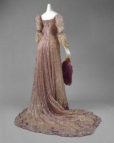 Evening dress Designer: Henriette Favre Date: 1902 Culture: French Medium: silk, sequins