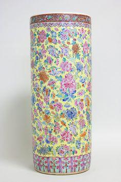 1960s Oversized Mid-Century Chinese Umbrella Stand // Large Vase // Chinoiserie Vintage