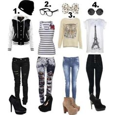 These are the perfect outfits for a teen because to me it fits a teens style.